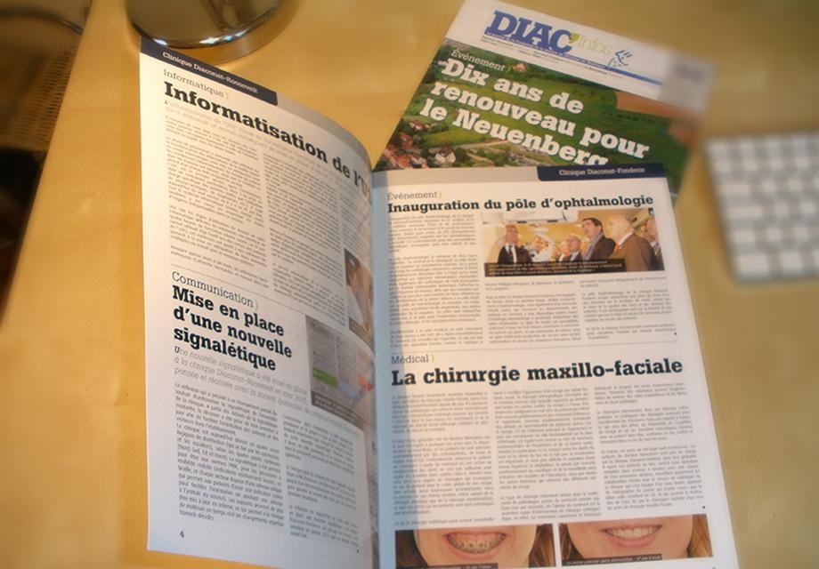 Journal interne Diac'Infos pour le Pôle Sanitaire Privé Mulhousien du Diaconat