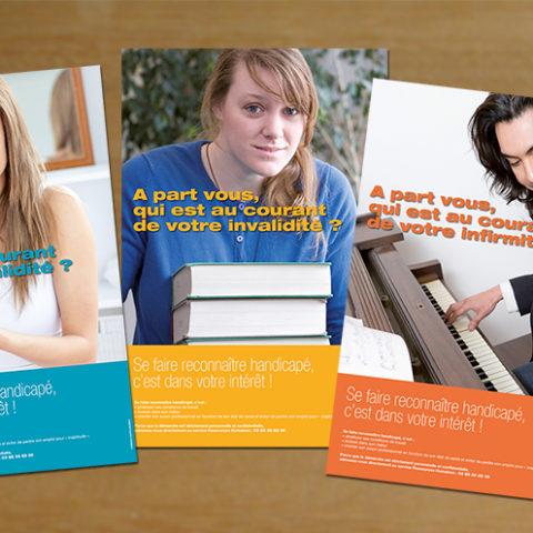 Campagne d'affichage en interne sur le handicap en entreprise pour Dr. Oetker