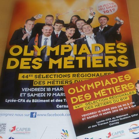 Plaquette et invitation OLYMPIADES DES METIERS FFB couverture