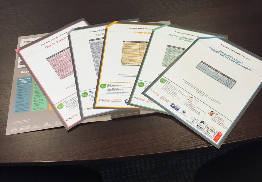 Plaquette formation professionnelle fiches FRTP