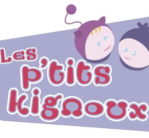 Logo Les P'tits Kignoux réalisé par Midway Cmmunication