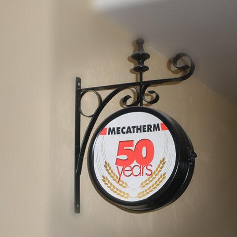 Logo réalisé pour les 50 ans de Mecatherm pour leur communication corporate