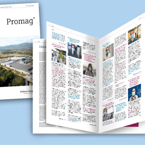 Journal interne pour fédérer les collaborateurs deEndress+Hauser