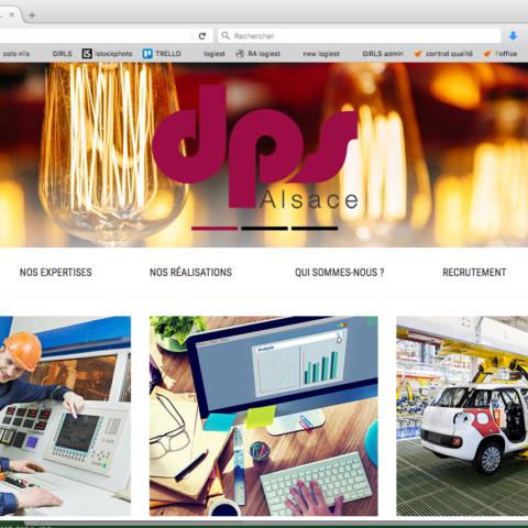 Exemple de page d'accueil pour le site internet DPS Alsace dans le cadre de leur stratégie de communication digitale
