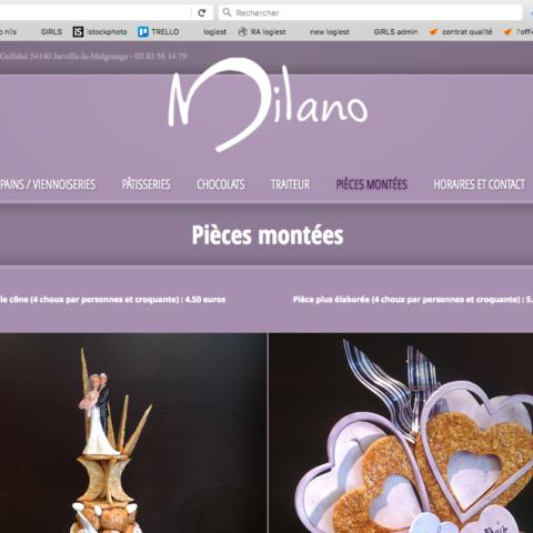 Site internet Milano page intérieure 2