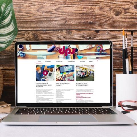 Page d'accueil du site internet de DPS Alsace