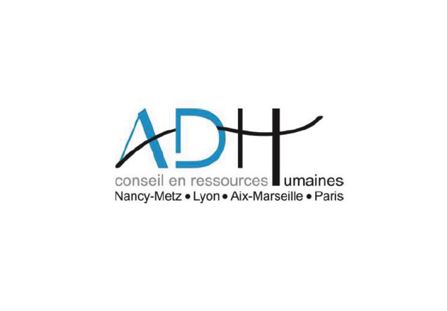 Logo de ADH, conseil en ressources humaines