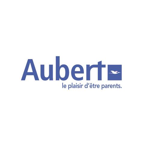 LOGO DE AUBERT, LE PLAISIR D'ÊTRE PARENTS