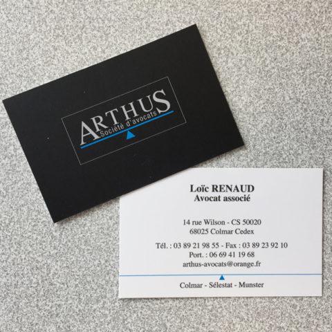 Cartes de visite Arthus avocat