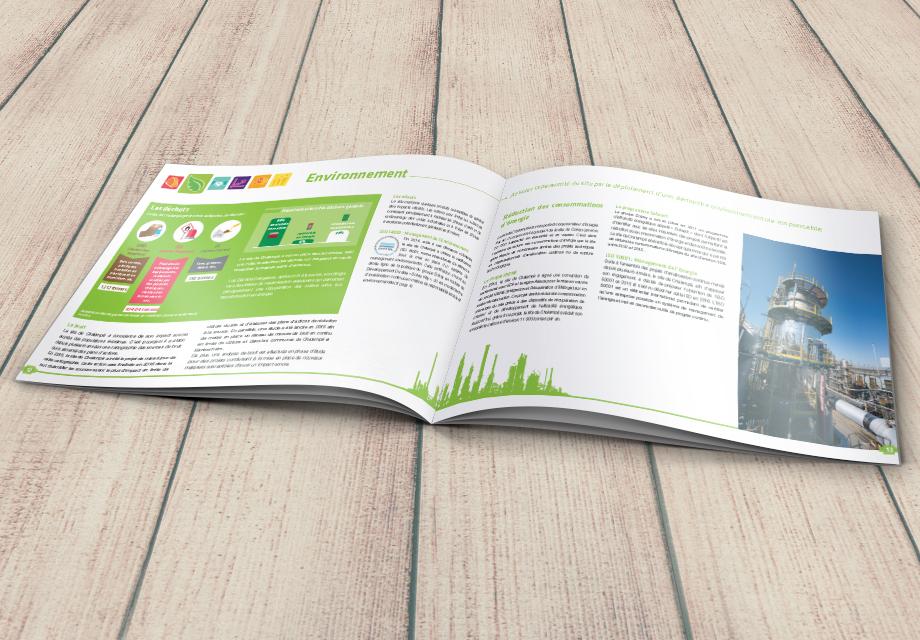 Intérieur du rapport developpement durable réalisé pour Solvay