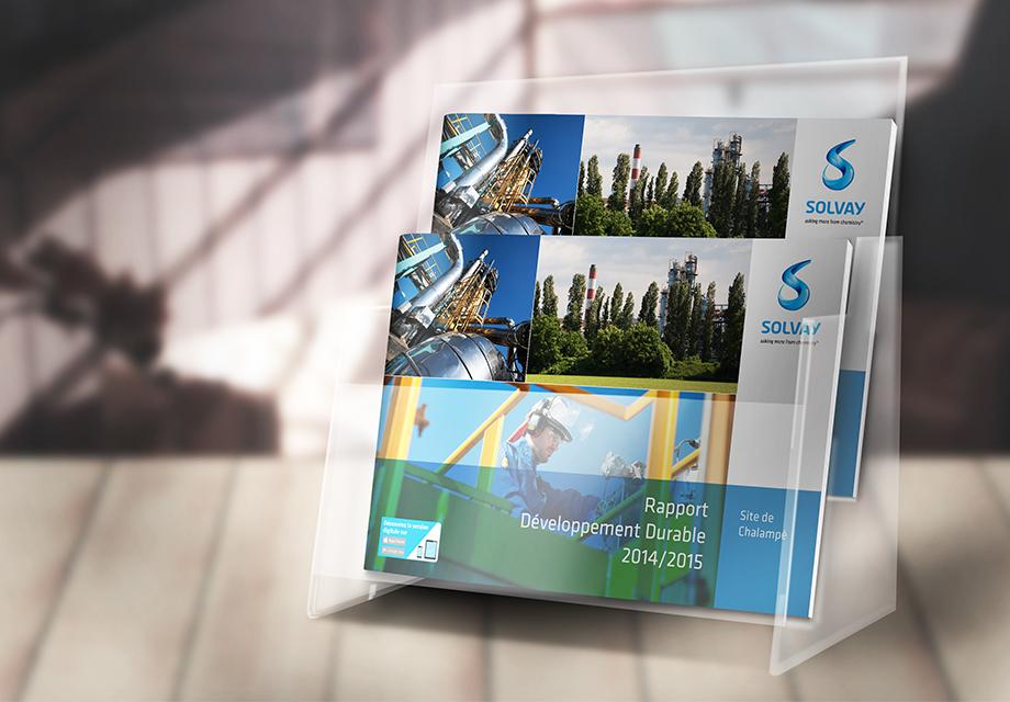 Rapport Développement Durable Solvay couverture vue 2