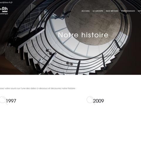 Exemple de page prise du site internet d'Itea RH