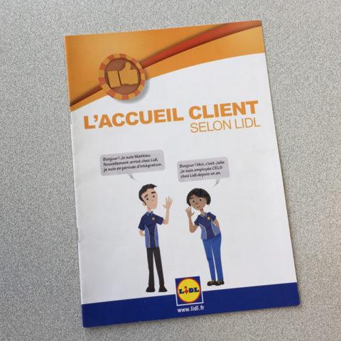 Couverture du fascicule à destination des salariés pour l'enseigne Lidl