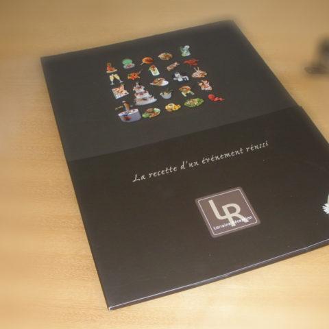Plaquette corporate Lorraine Réception couverture