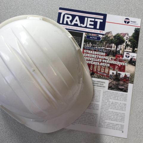 Exemple de journal interne réalisé pour l'entreprise Trabet