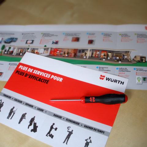 Plaquette institutionnelle réalisée pour Würth pour leur communication corporate