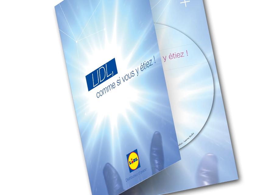 Pochette DVD conçue pour le film d'entreprise LIDL