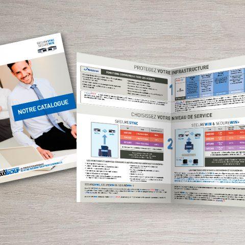 Découvrez la couverture et une page intérieure du catalogue pour notre client Sofrad