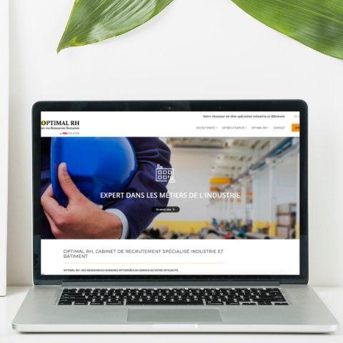 Page d'accueil du site internet de Optimal RH