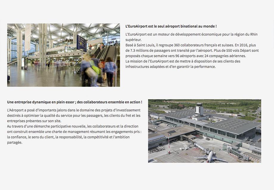 Réseaux sociaux LinkedIn page vie d'entreprise Euroairport vue 3