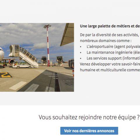 Palette des métiers que l'on retrouve sur la page LinkedIn de l'EuroAirport Bâle-Mulhouse