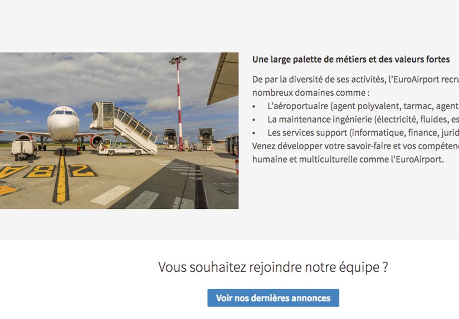 Réseaux sociaux LinkedIn page vie d'entreprise Euroairport vue 4
