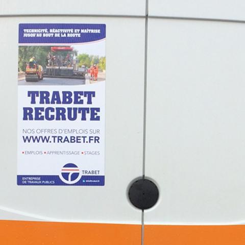 TRABET recrutement affiche magnétique 1
