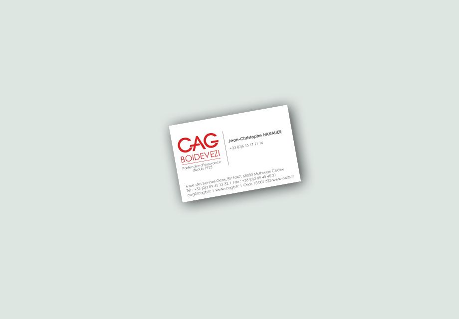 Carte de visite CAG BOIDEVEZI