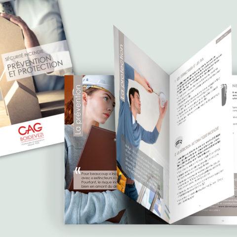 Réalisation d'une plaquette sécurité pour notre client CAG BOIDEVEZI