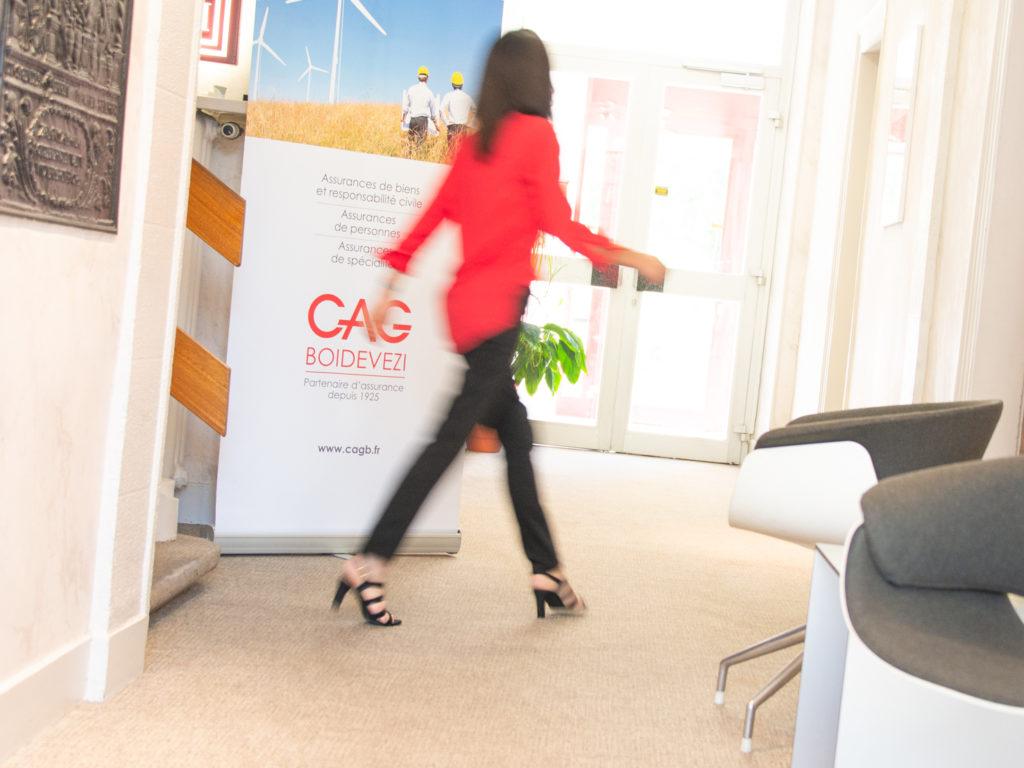 Kakémono réalisé dans le cadre de la communication corporate de CAG BOIDEVEZI