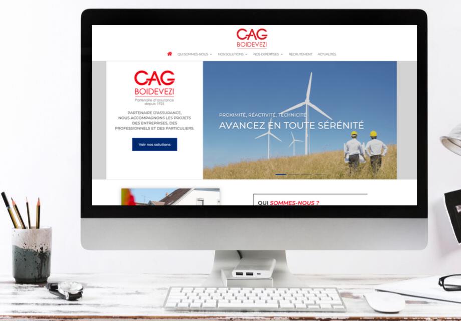 Mockup du nouveau site Internet CAG