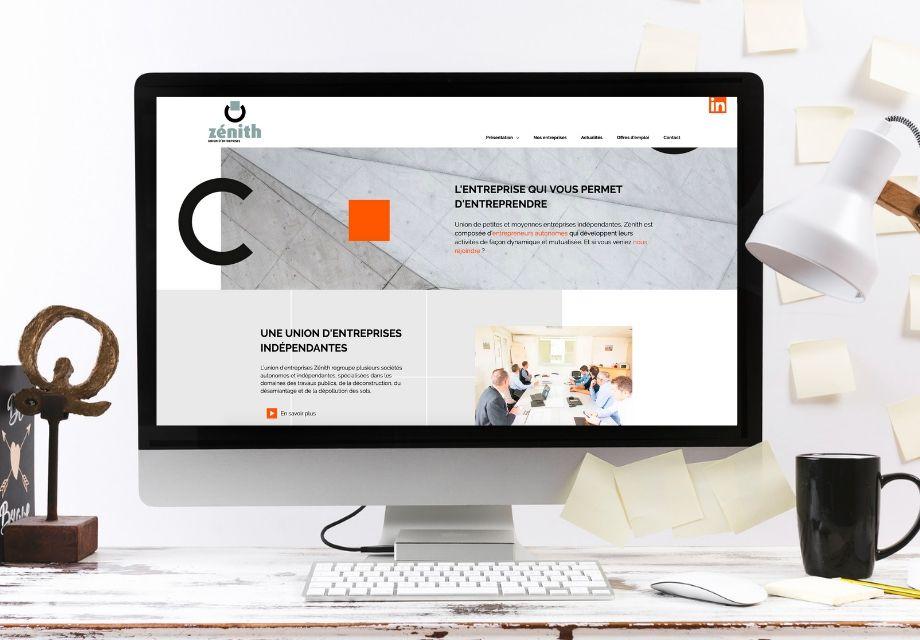 Page d'accueil du site Intenet Zénith