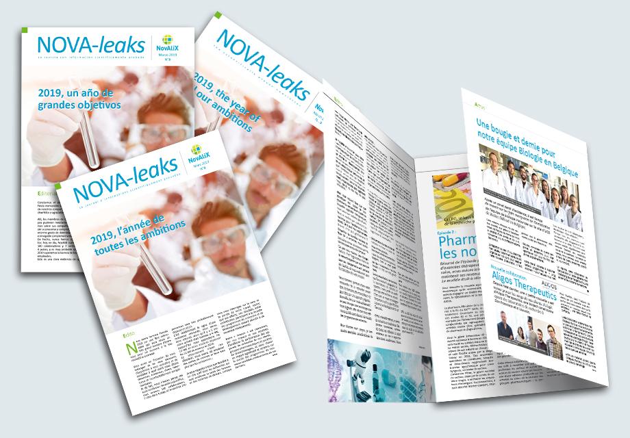 Mise en situatio du journal interne Nova-leaks pour l'entreprise NovAliX
