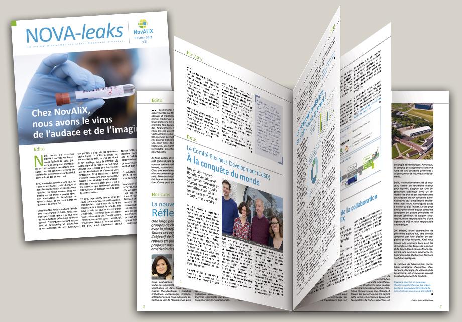 Nouveau numéro du journal interne de Novalix