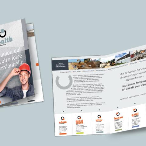 Mise en situation du guide des métiers réalisé pour Zénith et Entreprises
