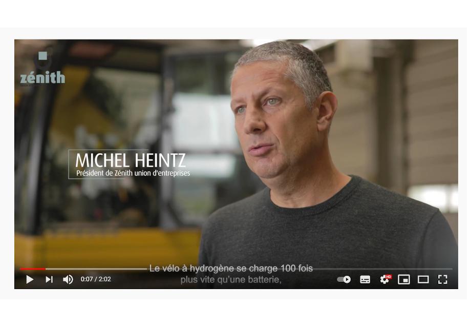 Video témoignage sur les vélos à hydrogène pour Zénith union d'entreprises