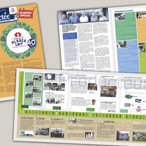 Journal interne spécial 40 ans pour Alsace Lait