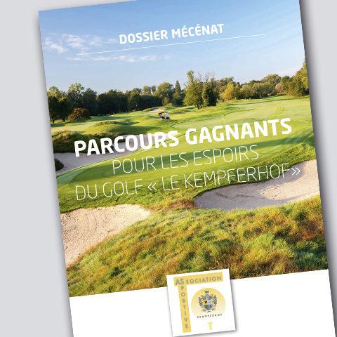 Plaquette mécénat pour l'Association Sportive du Golf Le Kempferhof