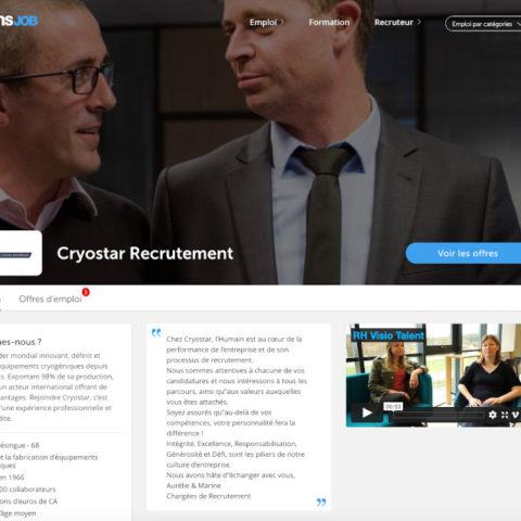 Page Carrière Regionsjob pour Cryostar