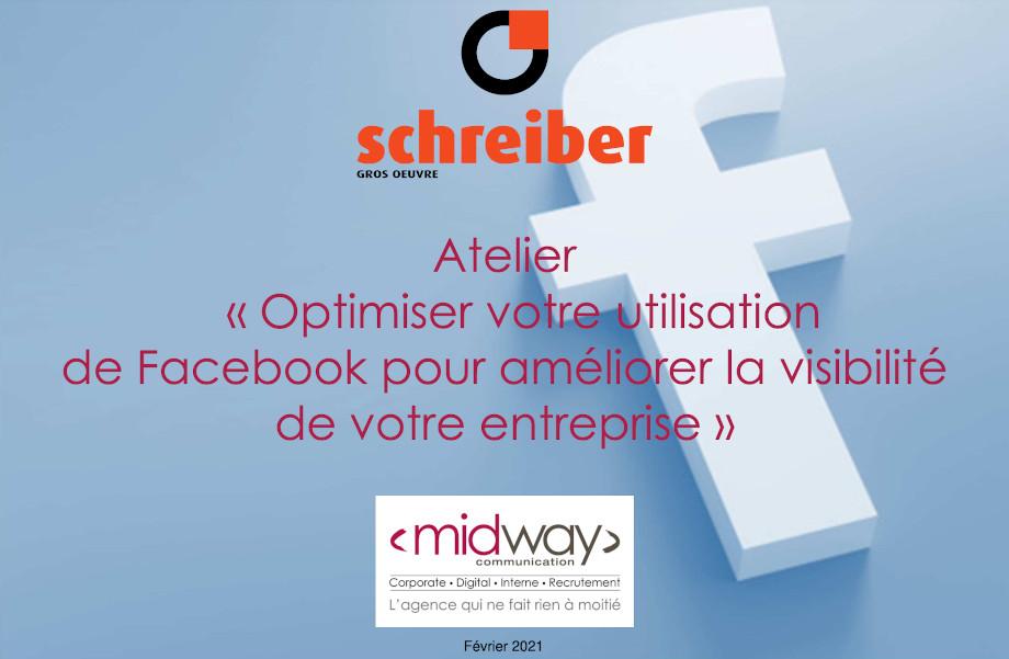 Atelier Facebook pour Schreiber Gros Oeuvre